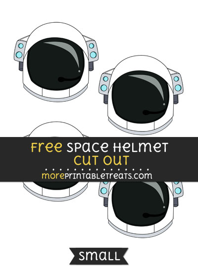 Free Space Helmet Cut Out - Small Size Printable
