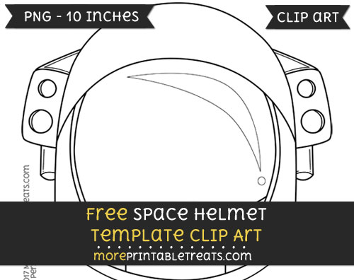 Free Space Helmet Template - Clipart