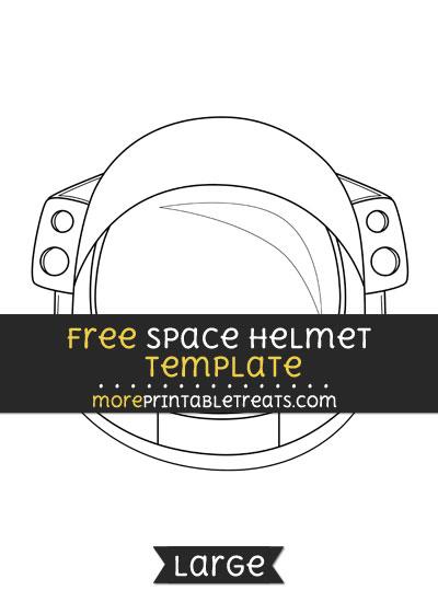 Free Space Helmet Template - Large