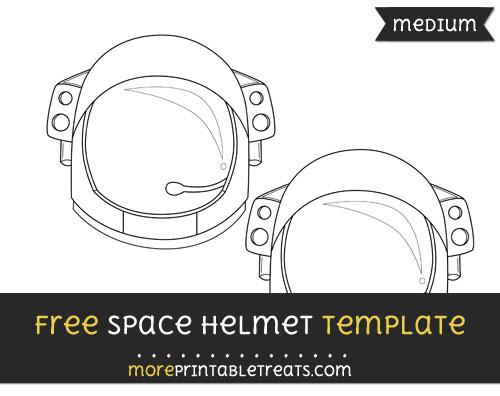 Free Space Helmet Template - Medium