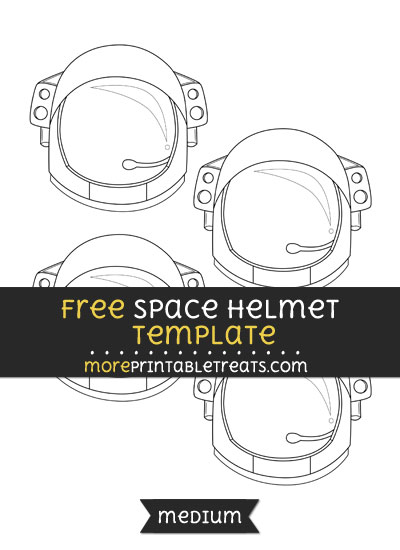 Free Space Helmet Template - Small