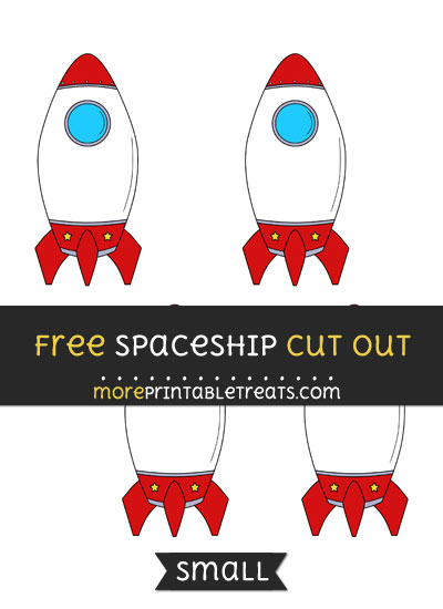 Free Spaceship Cut Out - Small Size Printable