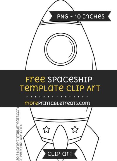 Free Spaceship Template - Clipart