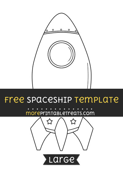 Free Spaceship Template - Large
