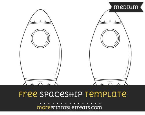 Free Spaceship Template - Medium