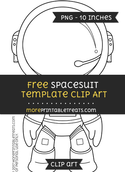 Free Spacesuit Template - Clipart