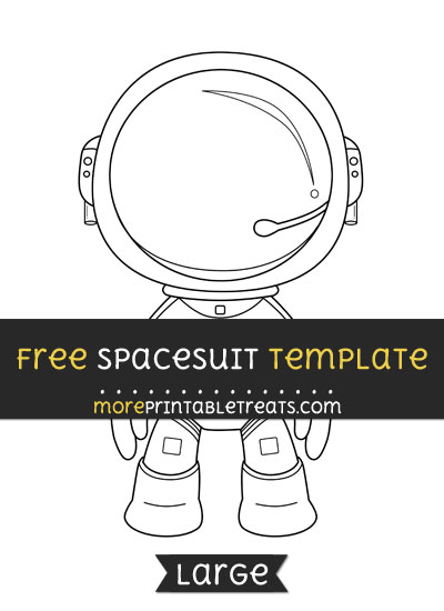 Free Spacesuit Template - Large