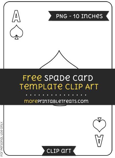 Free Spade Card Template - Clipart