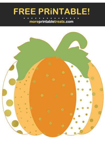 Free Printable Sparkle Pumpkin Cut Out