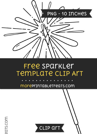 Free Sparkler Template - Clipart