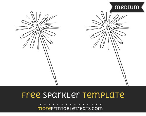 Free Sparkler Template - Medium