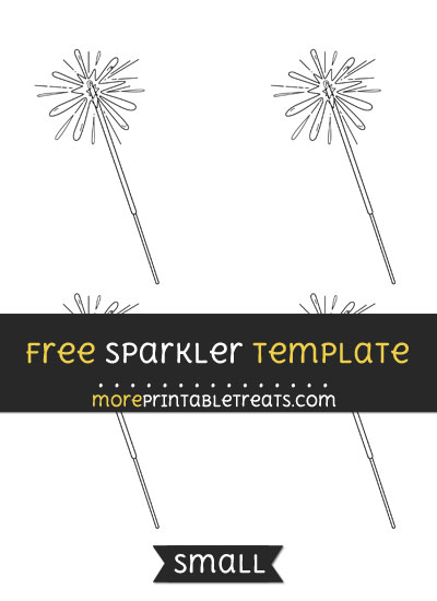 Free Sparkler Template - Small