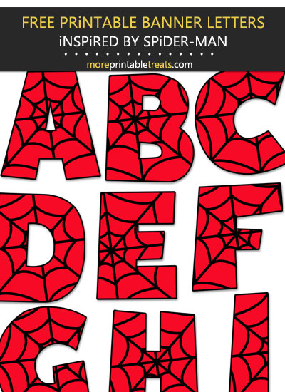 Free Printable Spider-Man-Inspired Letters, Numbers, Punctuation