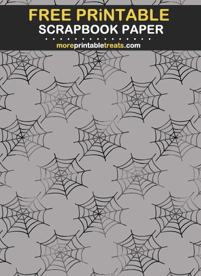 Free Printable Spider Web Scrapbook Paper