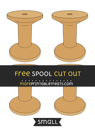Free Spool Cut Out - Small Size Printable