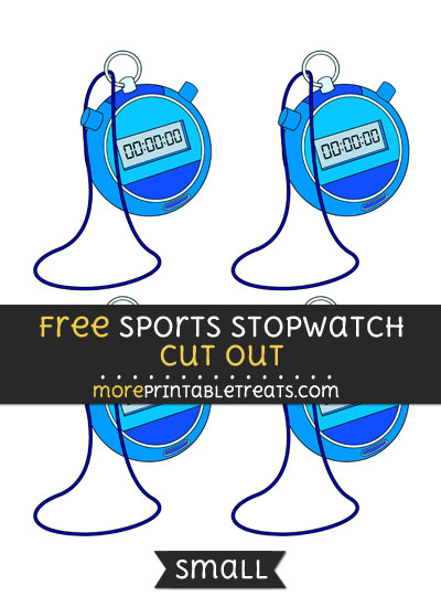Free Sports Stopwatch Cut Out - Small Size Printable
