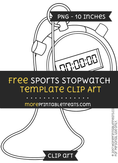 Free Sports Stopwatch Template - Clipart