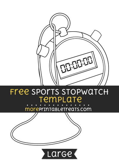 Free Sports Stopwatch Template - Large