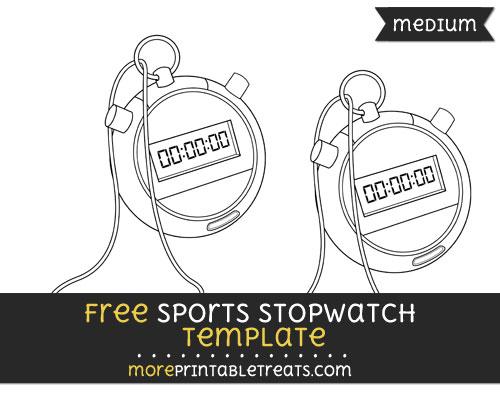 Free Sports Stopwatch Template - Medium