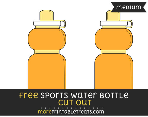 Free Sports Water Bottle Cut Out - Medium Size Printable