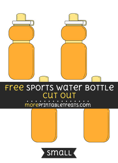 Free Sports Water Bottle Cut Out - Small Size Printable