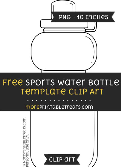 Free Sports Water Bottle Template - Clipart