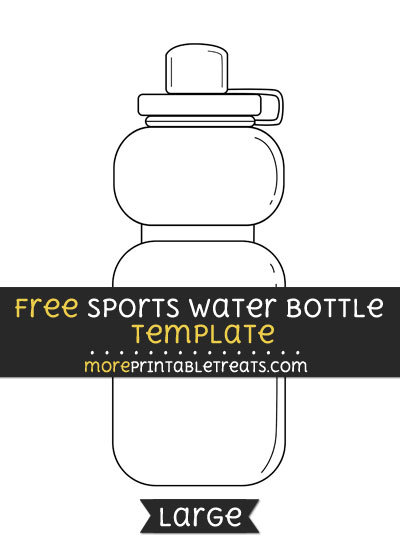 Free Sports Water Bottle Template - Large