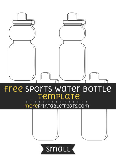 Free Sports Water Bottle Template - Small