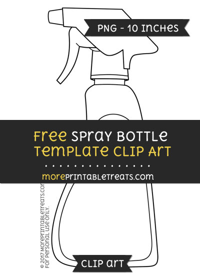 Free Spray Bottle Template - Clipart