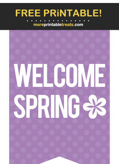 Free Printable Spring Bunting Banner Cut Out