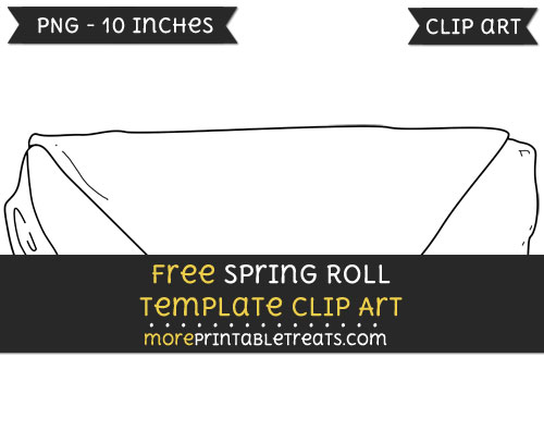 Free Spring Roll Template - Clipart