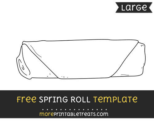 Free Spring Roll Template - Large