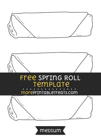 Free Spring Roll Template - Medium
