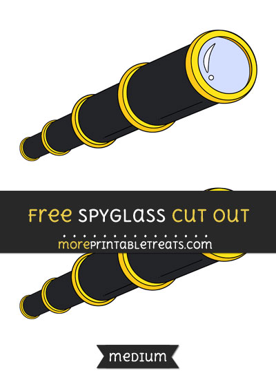 Free Spyglass Cut Out - Medium Size Printable
