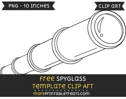 Free Spyglass Template - Clipart