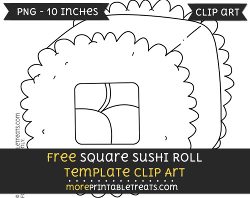 Free Square Sushi Roll Template - Clipart