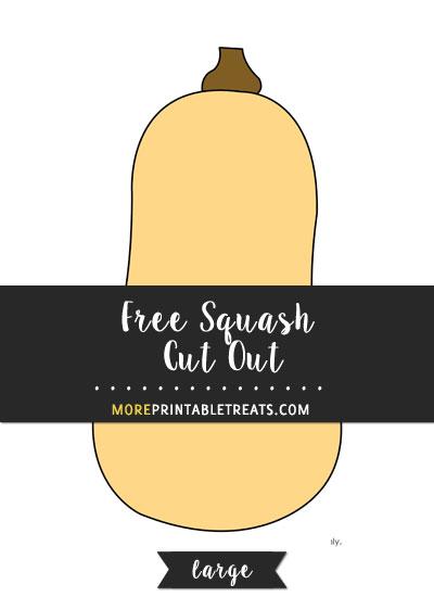 Free Squash Cut Out - Large