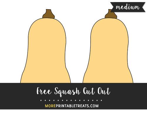 Free Squash Cut Out - Medium