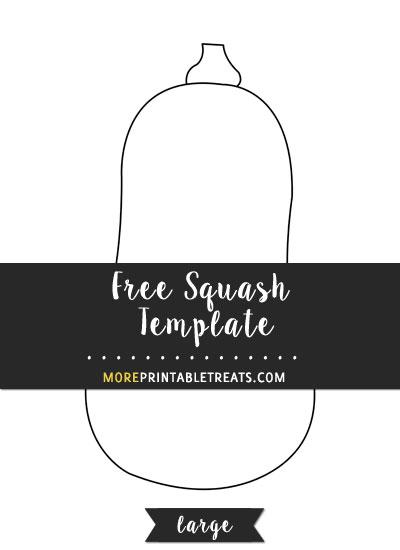 Free Squash Template - Large