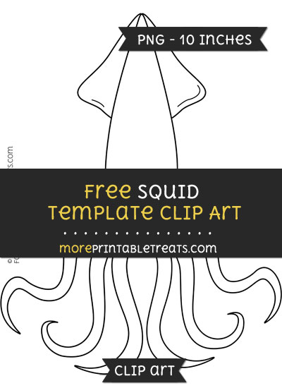 Free Squid Template - Clipart