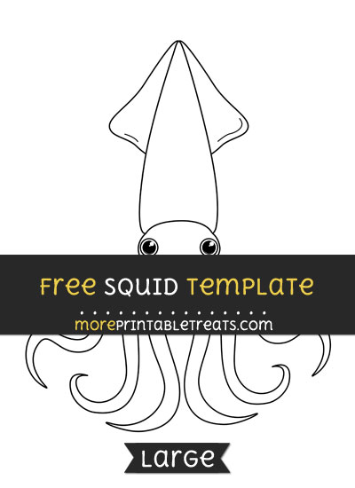 Free Squid Template - Large