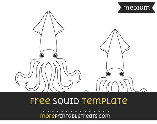 Free Squid Template - Medium
