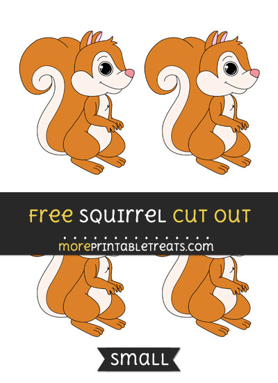 Free Squirrel Cut Out - Small Size Printable