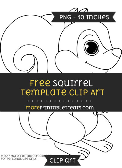 Free Squirrel Template - Clipart