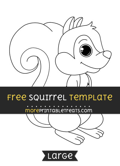 Free Squirrel Template - Large