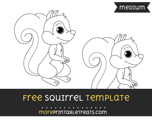 Free Squirrel Template - Medium