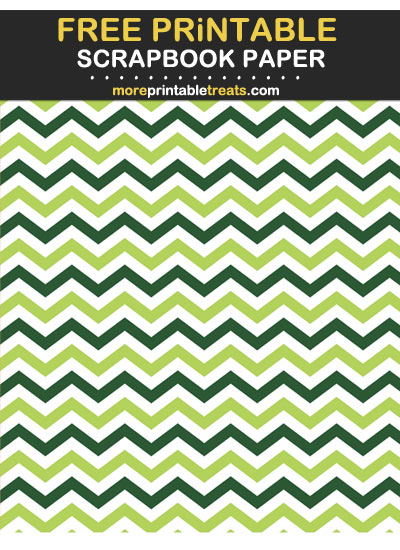 Free Printable St. Patrick's Day Chevron Scrapbook Paper