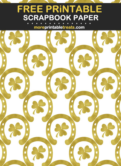 Free Printable St. Patrick's Day Gold Foil Scrapbook Paper