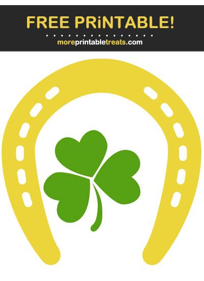 Free Printable St. Patrick's Day Horseshoe Shamrock Cut Out