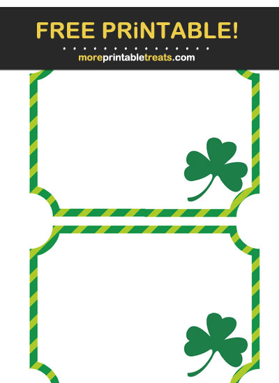 Free Printable St. Patrick's Day Labels
